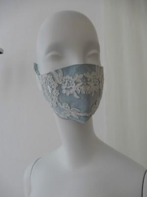【さえら】の美しいチュールレースマスク